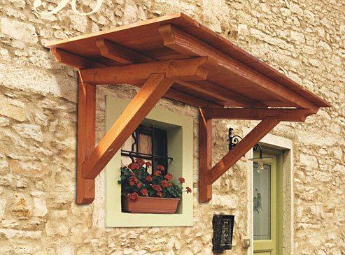 Le pensiline in legno per la tua casa for Come costruire la tua casa